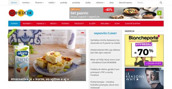Ponuka vydania článku aj s odkazom na Komercne.eu